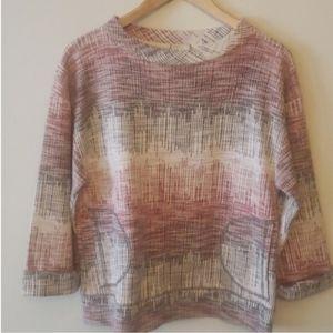 Anthropologie brand Postmark Crosshatch sweater